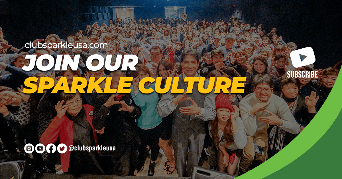 """An image that says """"Join our Sparkle culture"""" with a subscribe YouTube logo and the @clubsparkle social media icons."""